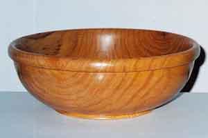 Oak  (Wood had cracks but I turned this bowl anyway.)